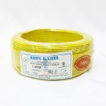 Arus Kabel Pure Copper 1.5mm PVC Insulated Non-Sheathed Wire [100M] (Yellow)