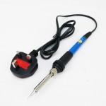 907 240V 60W Temperature Adjustable Electric Soldering Iron Stick (Blue) c/w Malaysia Standard Plug Top