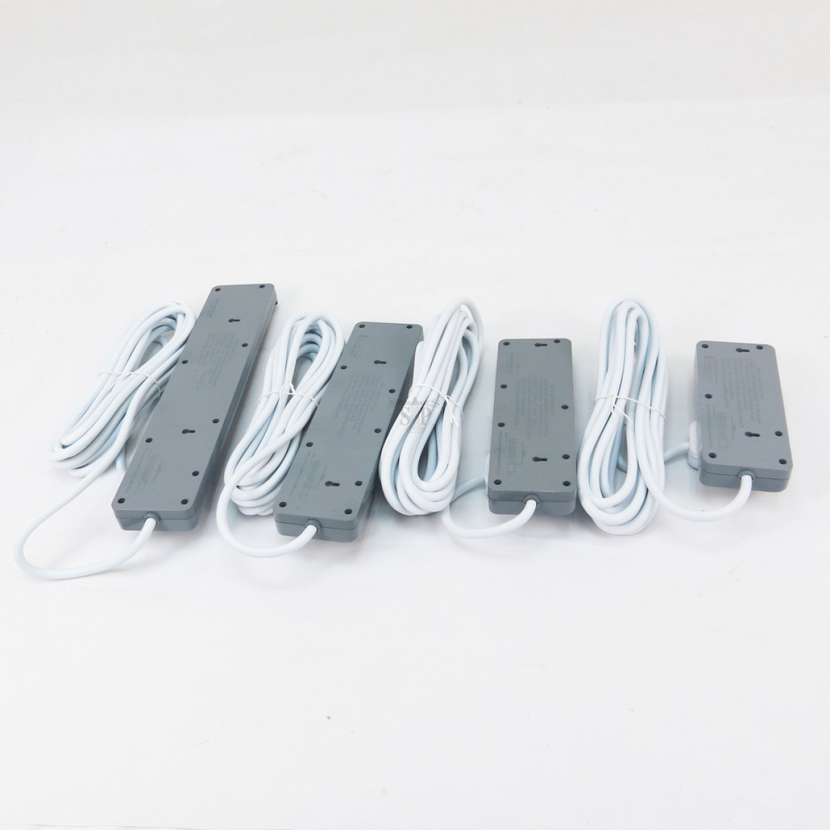 Designer 13A 2 Gang To 5 Gang 5 Meters Power Extension Trailing Socket c/w Surge Protector [SIRIM Approval] (Grey)