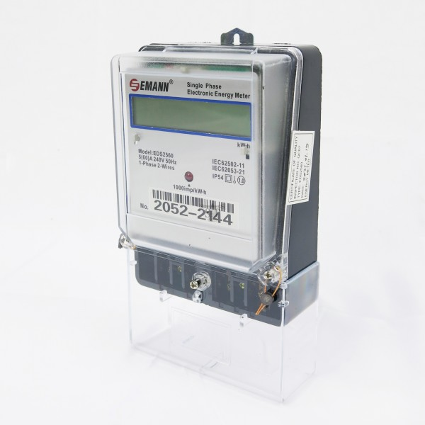 EMANN EDS2560 5(60A) Single Phase Electricity kWh Meter (Digital)