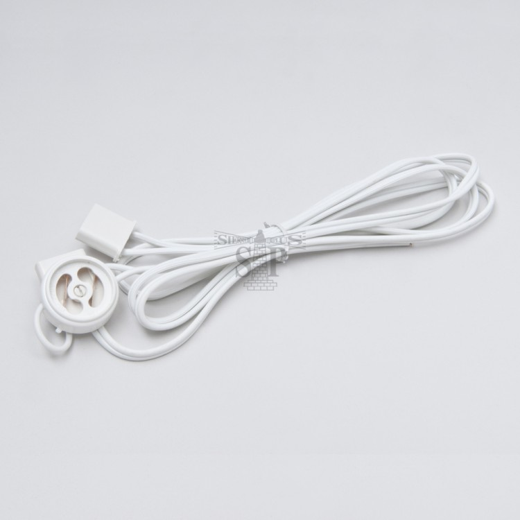 T8 End Cap Wire Complete With Starter Holder (White)