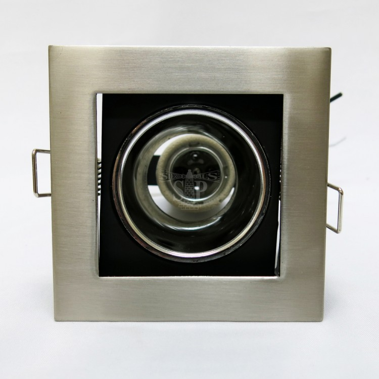 201/1L 3-inch E27 Down Light Square Bracket c/w Reflector [Recessed Type] (Sand Silver)