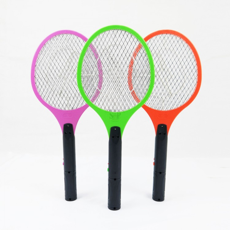 801 Rechargeable 2 Pin Plug Electric Insect / Mosquito Racket / Swatter / Rapper (Multicolor)
