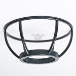 Globe Basket for 10-inch Outdoor Globe Light/Gate Light For Pole (Black)