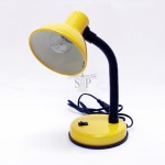 2025 E14 Desk Lamp / Table Lamp (Yellow) c/w 40W E14 Incandescent Filament Ping Pong Light Bulb
